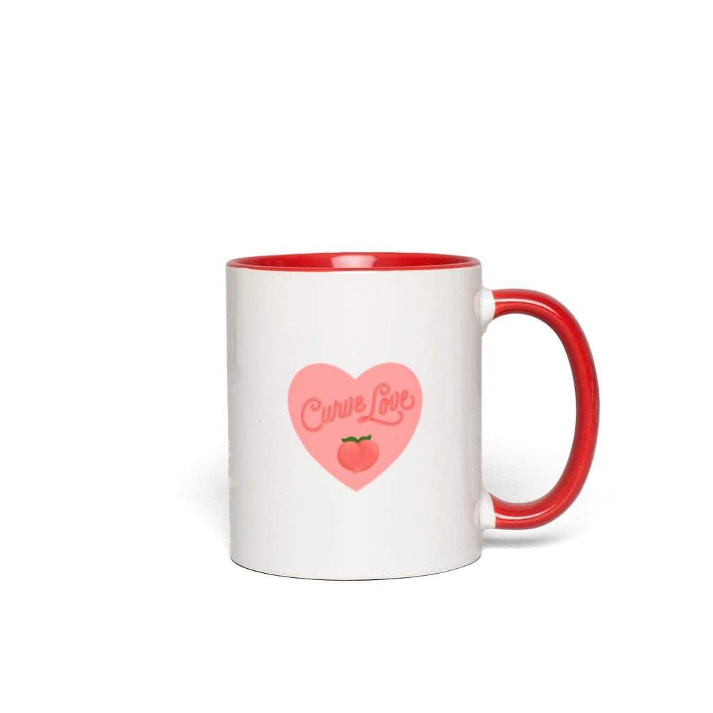 Curve Love Mug-White with Red Accents-AllGo