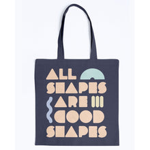 Load image into Gallery viewer, All Shapes are Good Shapes Canvas Tote-Accessories-Navy-M-AllGo