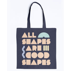 All Shapes are Good Shapes Canvas Tote-Accessories-Navy-M-AllGo