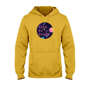 Take Up Space Classic Fit Pullover Hooded Sweatshirt-Sweatshirts-Gold-S-AllGo