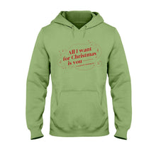 Load image into Gallery viewer, All I Want for Christmas is You (to Stop Body Shaming Me) Classic Fit Pullover Hooded Sweatshirt-Sweatshirts-Kiwi-S-AllGo