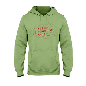 All I Want for Christmas is You (to Stop Body Shaming Me) Classic Fit Pullover Hooded Sweatshirt-Sweatshirts-Kiwi-S-AllGo