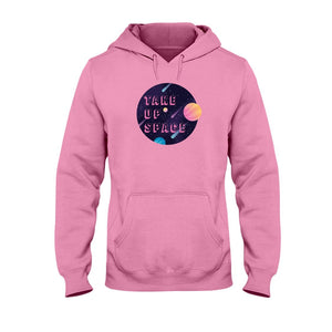 Take Up Space Classic Fit Pullover Hooded Sweatshirt-Sweatshirts-Safety Pink-S-AllGo
