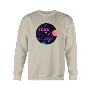 Take Up Space Classic Fit Crewneck Sweatshirt-Sweatshirts-Sand-S-AllGo