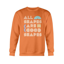 Load image into Gallery viewer, All Shapes are Good Shapes Classic Fit Crewneck Sweatshirt-Sweatshirts-Orange-S-AllGo