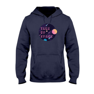 Take Up Space Classic Fit Pullover Hooded Sweatshirt-Sweatshirts-Navy-S-AllGo