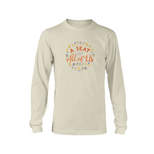 A Seat for All of Us Classic Fit Long Sleeve T-Shirt-Shirts-Natural-S-AllGo