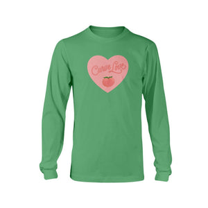 Curve Love Classic Fit Long Sleeve T-Shirt-Shirts-Irish Green-S-AllGo