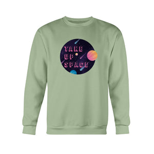 Take Up Space Classic Fit Crewneck Sweatshirt-Sweatshirts-Serene Green-S-AllGo