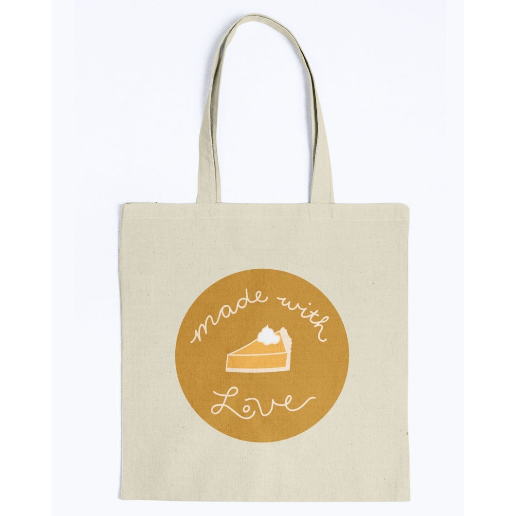 Made with Love Canvas Tote-Accessories-Natural-M-AllGo