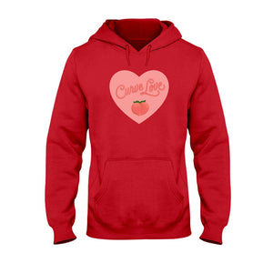 Curve Love Classic Fit Pullover Hooded Sweatshirt-Sweatshirts-Cherry Red-S-AllGo