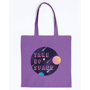 Take Up Space Canvas Tote-Accessories-Purple-M-AllGo