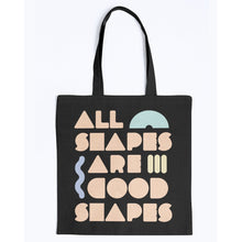 Load image into Gallery viewer, All Shapes are Good Shapes Canvas Tote-Accessories-Black-M-AllGo