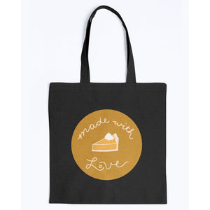 Made with Love Canvas Tote-Accessories-Black-M-AllGo