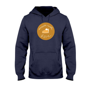 Made with Love Classic Fit Pullover Hooded Sweatshirt-Sweatshirts-Navy-S-AllGo