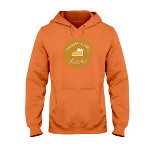 Made with Love Classic Fit Pullover Hooded Sweatshirt-Sweatshirts-Orange-S-AllGo