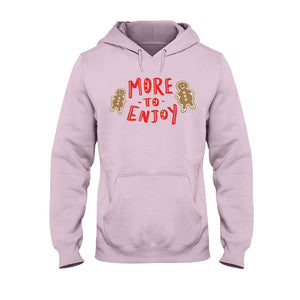 More to Enjoy Classic Fit Pullover Hooded Sweatshirt-Sweatshirts-Light Pink-S-AllGo