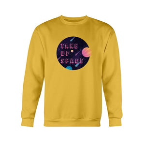 Take Up Space Classic Fit Crewneck Sweatshirt-Sweatshirts-Gold-S-AllGo