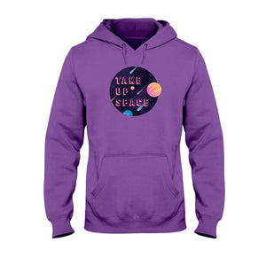 Take Up Space Classic Fit Pullover Hooded Sweatshirt-Sweatshirts-Purple-S-AllGo