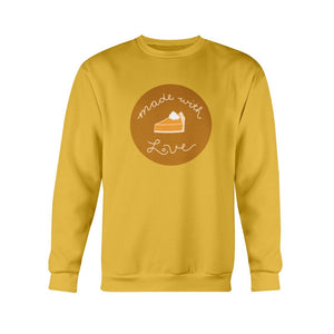 Made with Love Classic Fit Crewneck Sweatshirt-Sweatshirts-Gold-S-AllGo