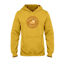 Load image into Gallery viewer, Made with Love Classic Fit Pullover Hooded Sweatshirt-Sweatshirts-Gold-S-AllGo