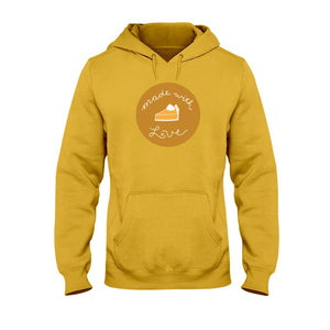 Made with Love Classic Fit Pullover Hooded Sweatshirt-Sweatshirts-Gold-S-AllGo