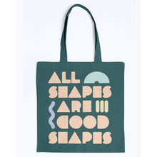Load image into Gallery viewer, All Shapes are Good Shapes Canvas Tote-Accessories-Forest-M-AllGo
