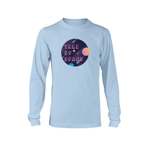 Take Up Space Classic Fit Long Sleeve T-Shirt-Shirts-Light Blue-S-AllGo