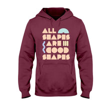 Load image into Gallery viewer, All Shapes are Good Shapes Classic Fit Pullover Hooded Sweatshirt-Sweatshirts-Maroon-S-AllGo