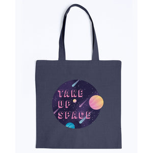 Take Up Space Canvas Tote-Accessories-Navy-M-AllGo