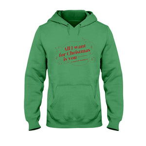 All I Want for Christmas is You (to Stop Body Shaming Me) Classic Fit Pullover Hooded Sweatshirt-Sweatshirts-Irish Green-S-AllGo