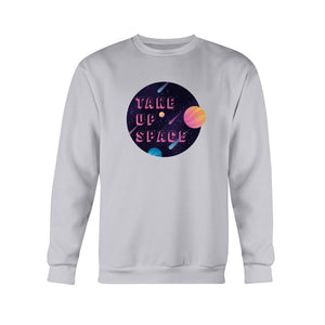 Take Up Space Classic Fit Crewneck Sweatshirt-Sweatshirts-Ash-S-AllGo