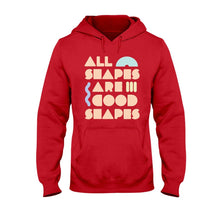 Load image into Gallery viewer, All Shapes are Good Shapes Classic Fit Pullover Hooded Sweatshirt-Sweatshirts-Cherry Red-S-AllGo