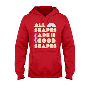 All Shapes are Good Shapes Classic Fit Pullover Hooded Sweatshirt-Sweatshirts-Cherry Red-S-AllGo