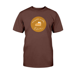 Made with Love Classic Fit Tagless T-Shirt-Shirts-Dark Chocolate-S-AllGo