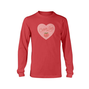 Curve Love Classic Fit Long Sleeve T-Shirt-Shirts-Red-S-AllGo