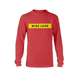WIDELOAD Classic Fit Long Sleeve T-Shirt-Shirts-Red-S-AllGo