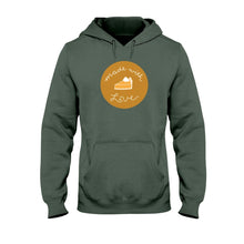 Load image into Gallery viewer, Made with Love Classic Fit Pullover Hooded Sweatshirt-Sweatshirts-Military Green-S-AllGo
