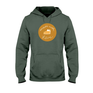 Made with Love Classic Fit Pullover Hooded Sweatshirt-Sweatshirts-Military Green-S-AllGo