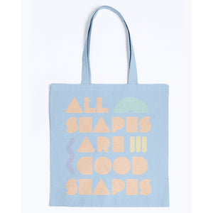 All Shapes are Good Shapes Canvas Tote-Accessories-Light Blue-M-AllGo