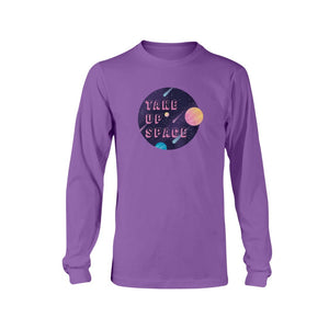 Take Up Space Classic Fit Long Sleeve T-Shirt-Shirts-Purple-S-AllGo