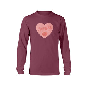 Curve Love Classic Fit Long Sleeve T-Shirt-Shirts-Maroon-S-AllGo
