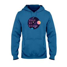 Load image into Gallery viewer, Take Up Space Classic Fit Pullover Hooded Sweatshirt-Sweatshirts-Antique Sapphire-S-AllGo