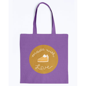 Made with Love Canvas Tote-Accessories-Purple-M-AllGo