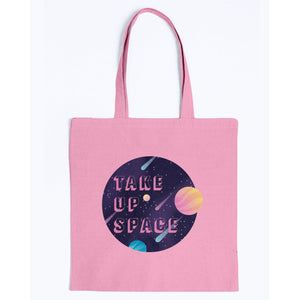 Take Up Space Canvas Tote-Accessories-Pink-M-AllGo