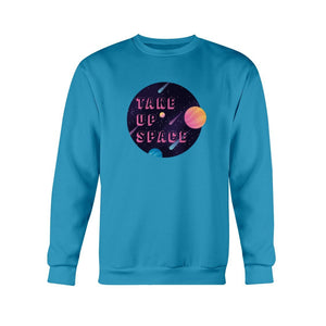 Take Up Space Classic Fit Crewneck Sweatshirt-Sweatshirts-Sapphire-S-AllGo