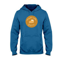 Load image into Gallery viewer, Made with Love Classic Fit Pullover Hooded Sweatshirt-Sweatshirts-Antique Sapphire-S-AllGo