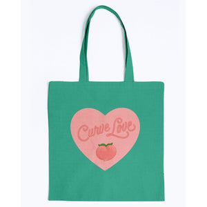 Curve Love Canvas Tote-Accessories-Kelly Green-M-AllGo