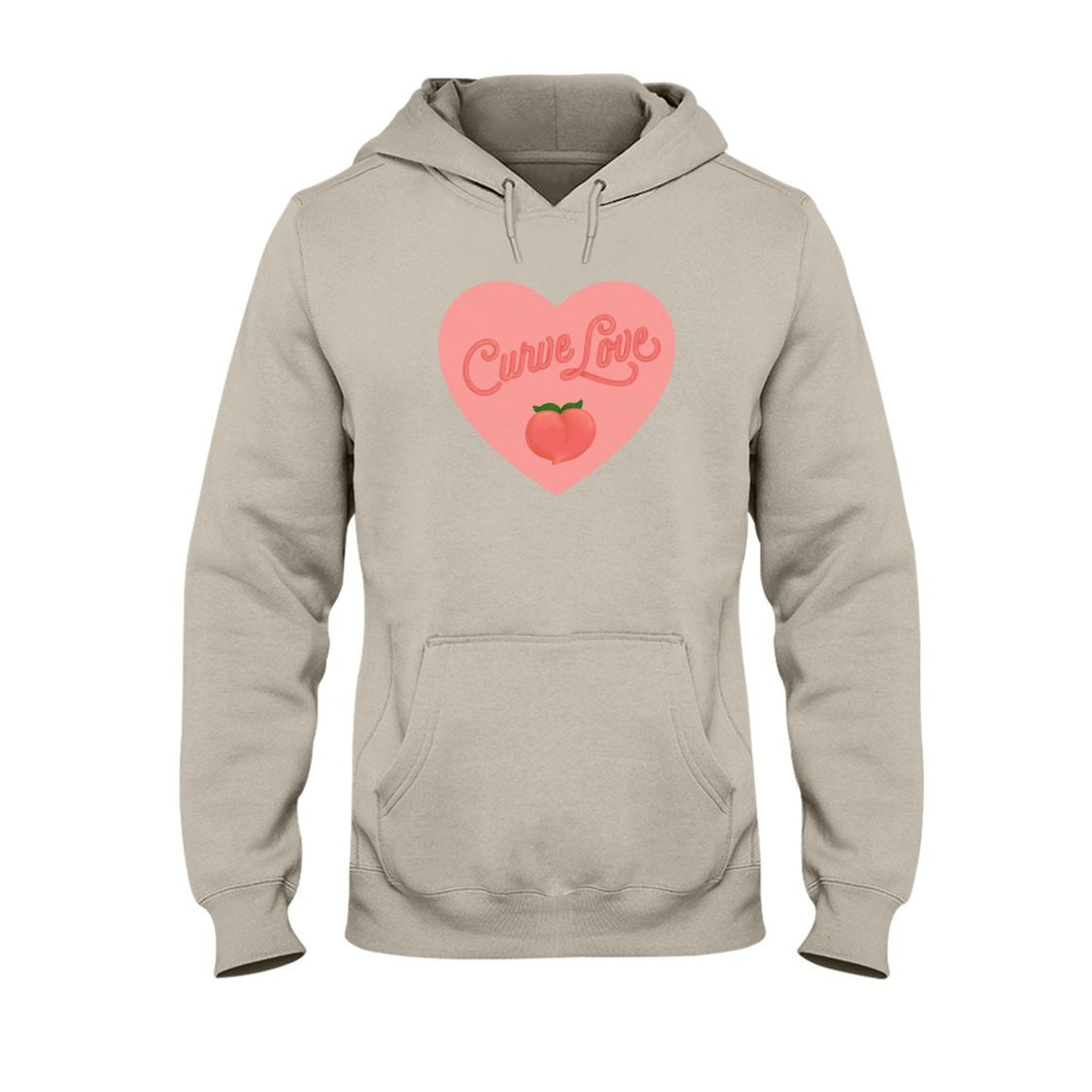 Curve Love Classic Fit Pullover Hooded Sweatshirt-Sweatshirts-Sand-S-AllGo