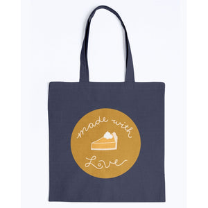 Made with Love Canvas Tote-Accessories-Navy-M-AllGo